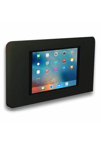 Muurhouder zwart, vlak tegen wand montage iPad mini; Piatto in zwart, acrylaat