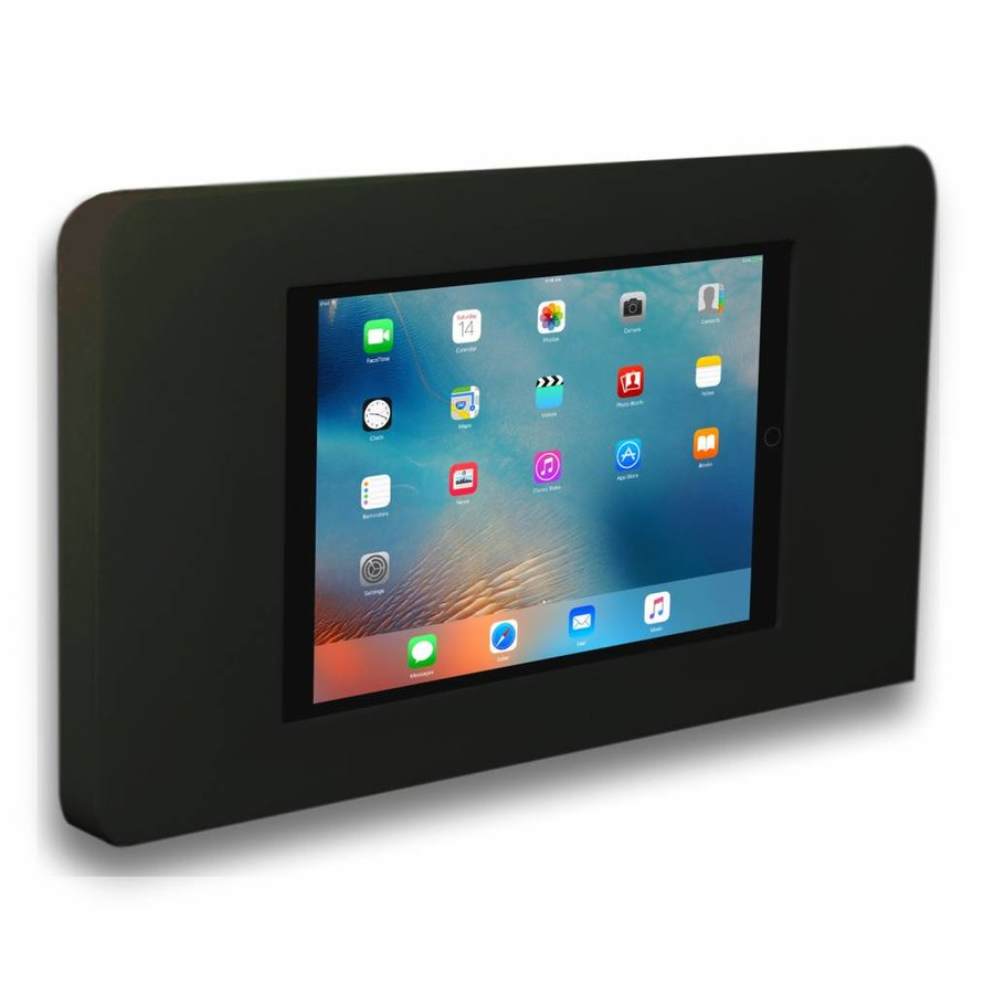 Tablethouder voor Apple iPad/Air, Piatto iPad mini, zwart, vlak tegen muur montage