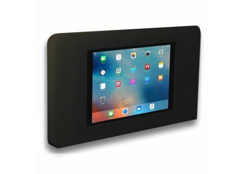 Muurhouder zwart vlak tegen wand montage iPad Pro 9.7/Air Piatto in zwart acrylaat