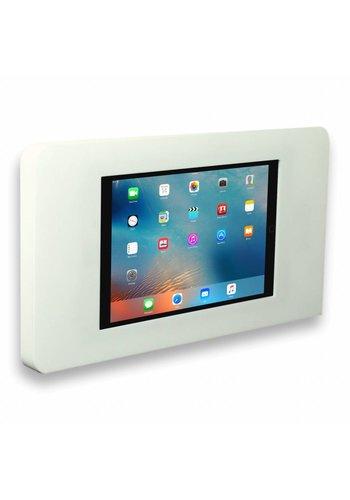 Muurhouder wit vlak tegen wand montage iPad mini Piatto in wit acrylaat