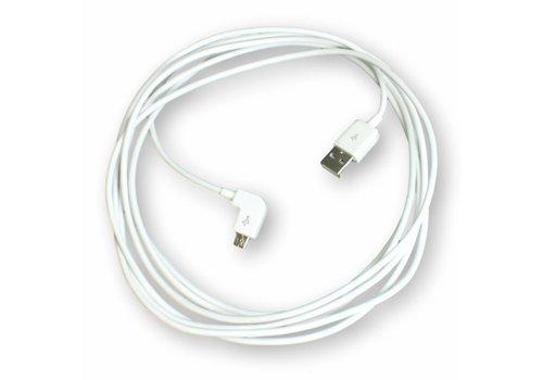 Micro-USB laadkabel haakse uitvoering o.a. Samsung Galaxy Tab