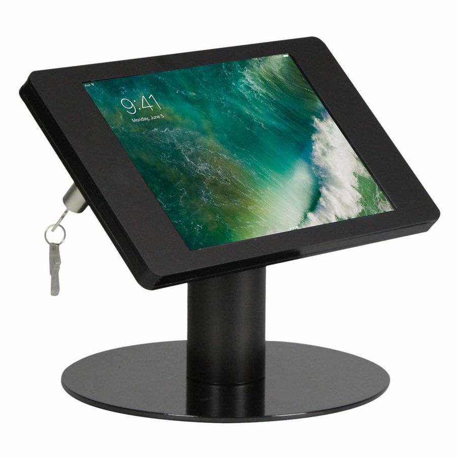 10.5-inch Pro iPadhouder, Fino, zwart, tafelstandaard, inclusief slot
