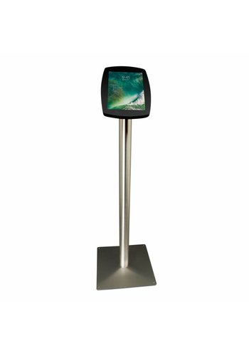 """Vloerstandaard iPad 10.5"""" Lusso zwart met RVS stalen voet"""