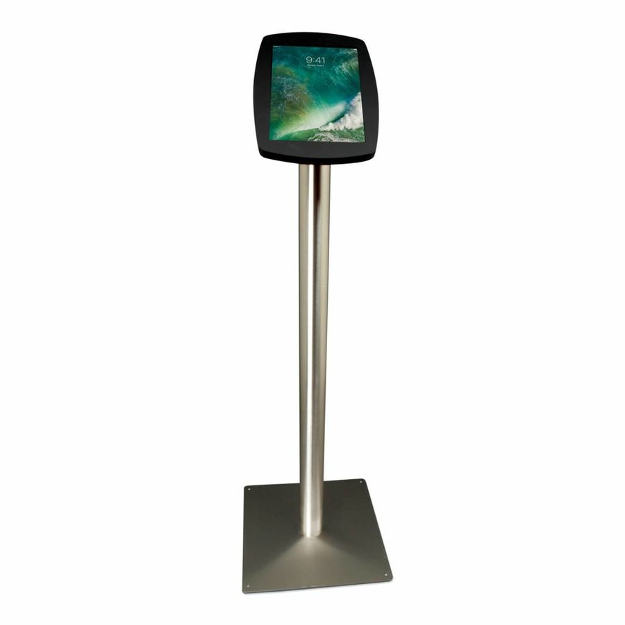 iPad Pro 10.5-inch, stijlvolle stabiele vloerstandaard Lusso, inclusief slot, zwart/RVS