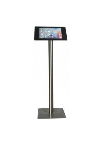 """Vloerstandaard iPad 12.9"""" Fino in zwart acrylaat met RVS stalen voet"""