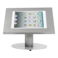 iPad 9.7/10.5 tafelstandaard, grijs voor Air, iPad 2017 en Pro 10,5-inch; Securo voor 9 tot 11 inch tablets; diefstalbestendige behuizing en voet van grijs gecoat staal