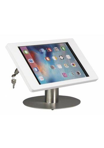 Tafelstandaard iPad Pro 12.9; Fino in wit kunststof met blank stalen voet