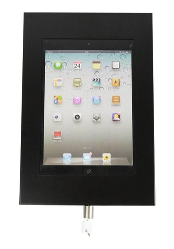 "Muurhouder zwart plat tegen wandmontage iPad Mini Securo 7-8"" tablets"