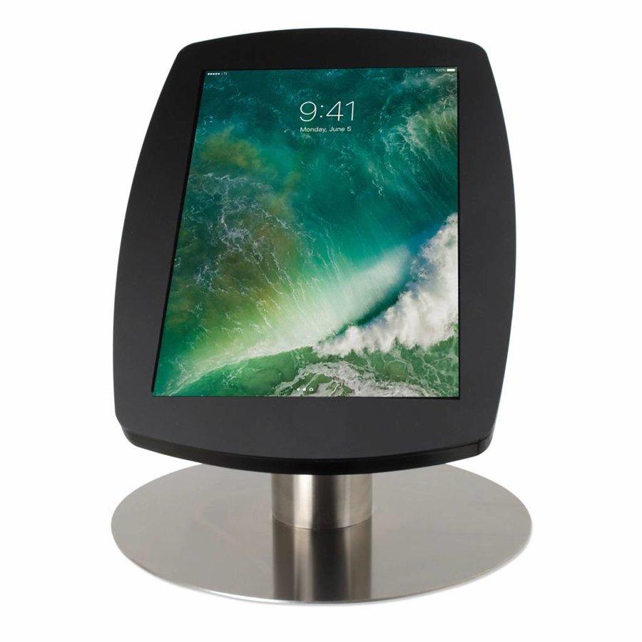 iPad Pro 10.5-inch, stijlvolle stabiele tafelstandaard, Lusso, inclusief slot, zwart/RVS