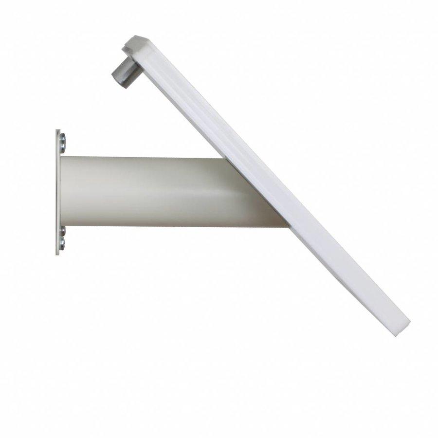 iPad houder wit voor iPad Gen 2/3/4; Fino, solide houder voor wand-, tafel montage van gecoat staal met acrylaat behuizing inclusief slot