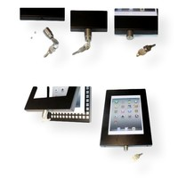 iPad Pro 10.5-inch, stabiele vloerstandaard Securo, afsluitbaar, grijs