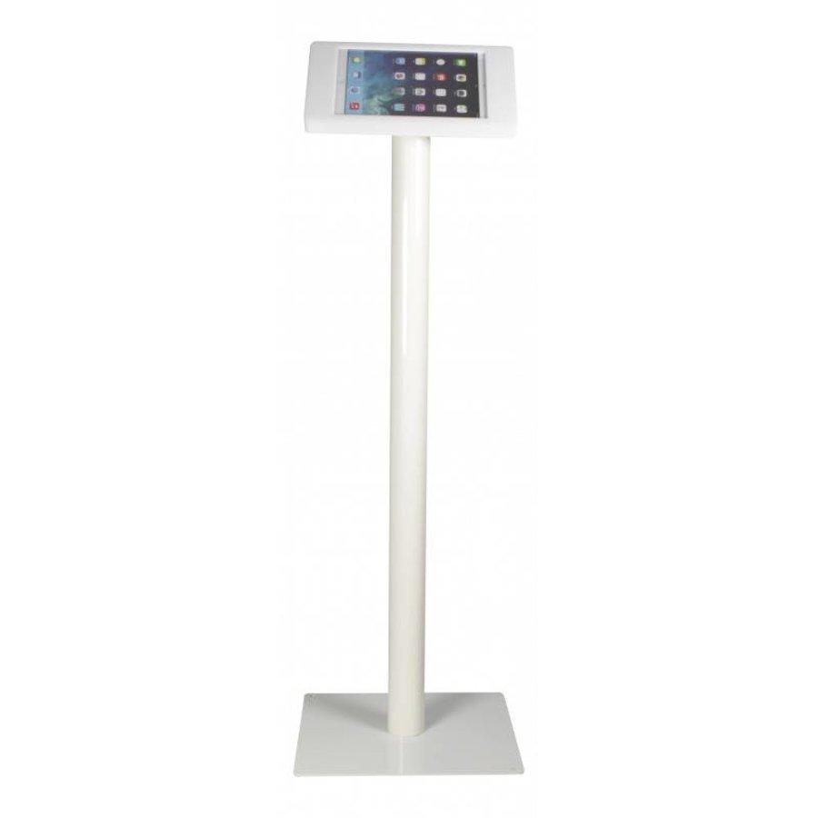 iPad vloerstandaard met powerbank compartiment, iPad Pro 9.7/ iPad Air; Fino, inclusief slot, wit