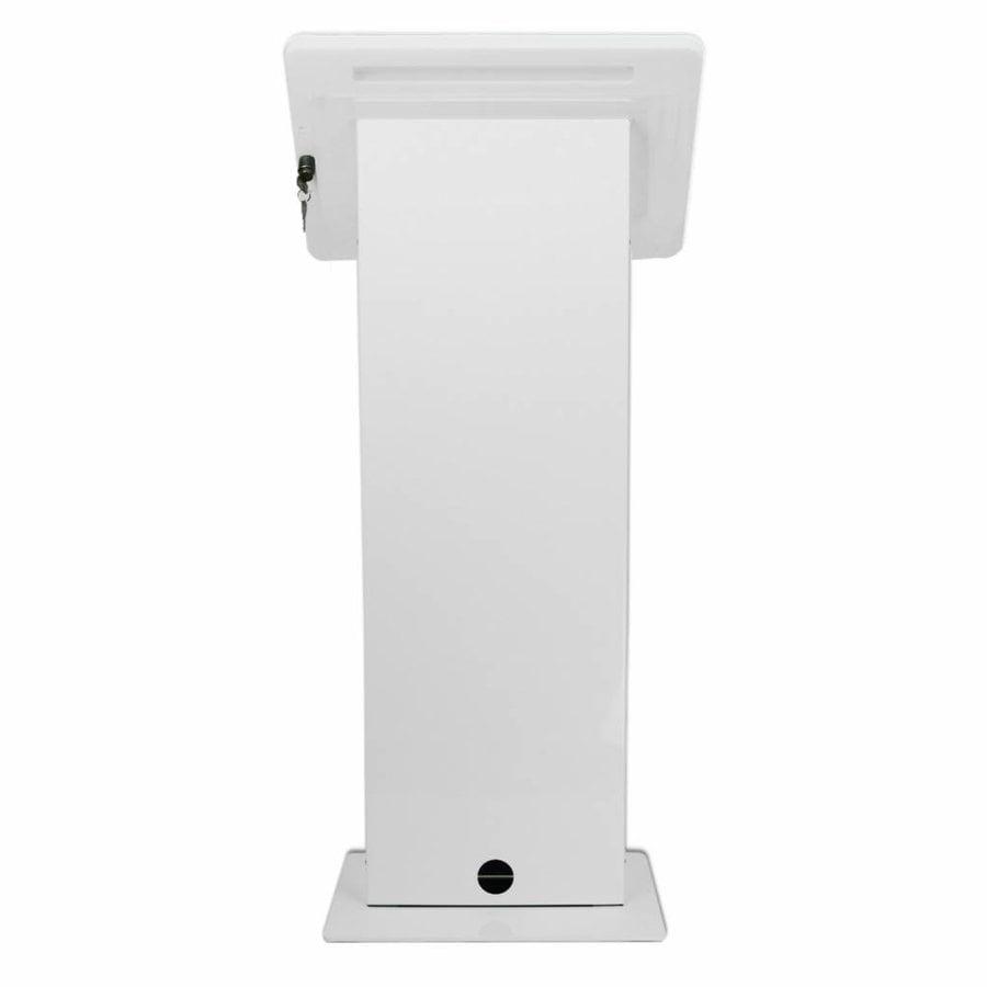 Display vloerstandaard voor monitors en touchscreen tablets, wit, Largo