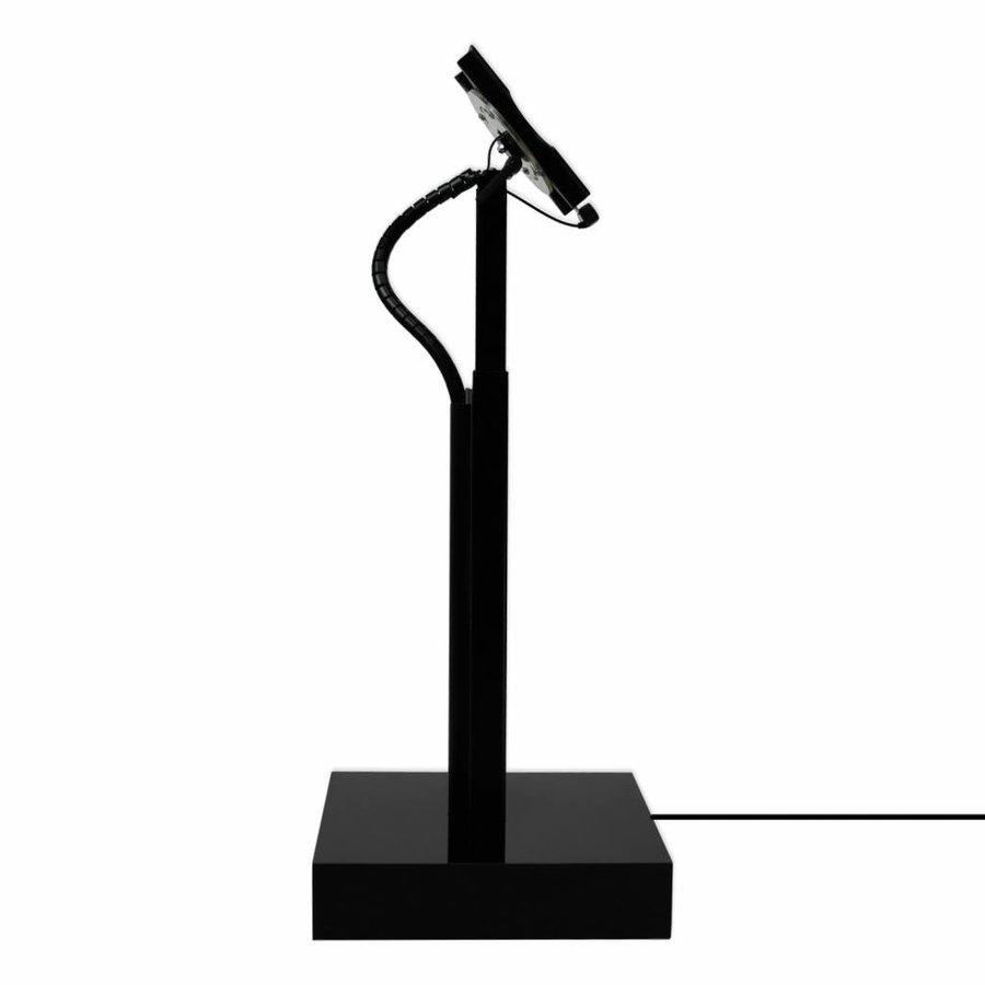 Elektronisch aangedreven in hoogte verstelbare televisie standaard Ascento Modulare in wit, VESA geschikt