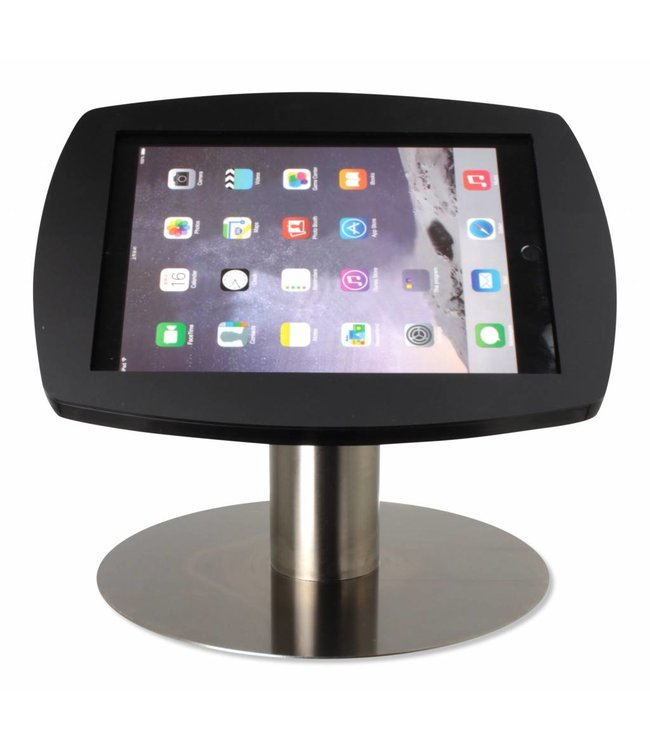 """Bravour iPad kiosk for iPad Air/iPad Pro 9.7"""", Desk Stand Lusso, black/stainless steel"""