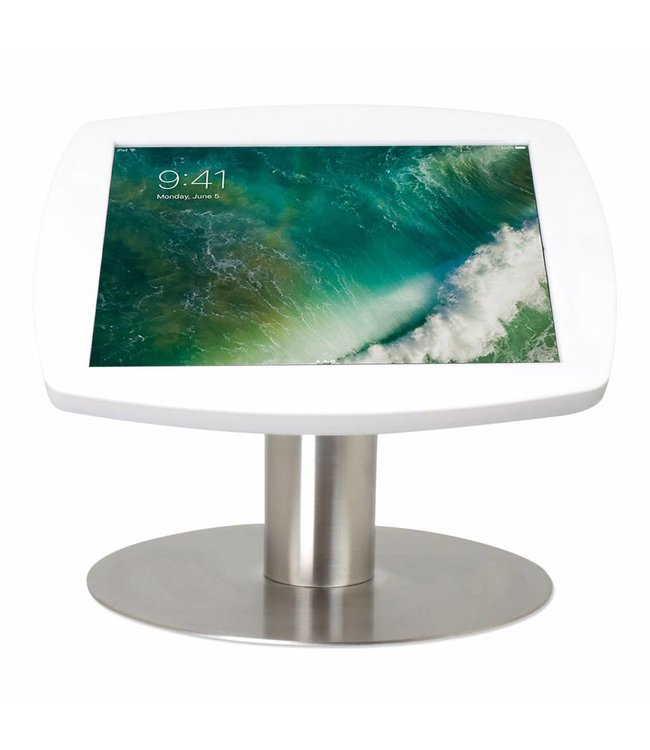 "Bravour iPad kiosk for iPad Pro 10.5"", Desk Stand Lusso, white/stainless steel"