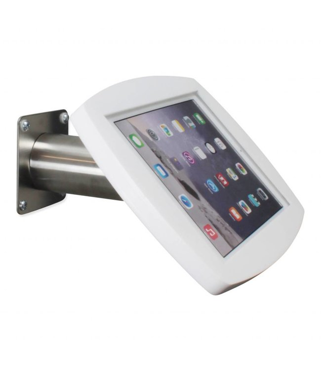 "Bravour iPad kiosk for iPad Air/iPad Pro 9.7"", for mounting on table or wall, including lock, white/stainless steel"