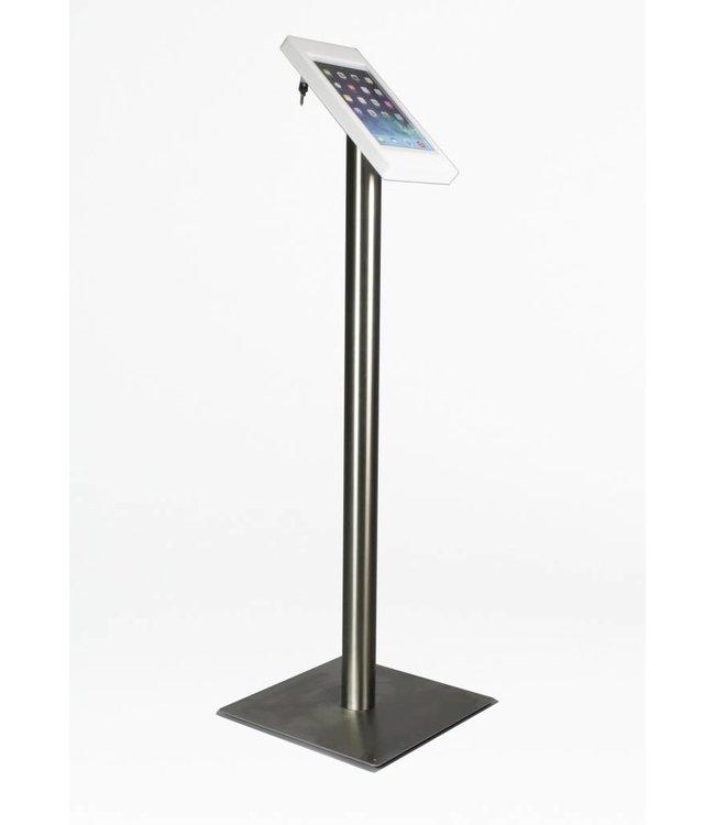 Bravour iPad Floor Stand for iPad 2/3/4, Fino, white/stainless steel