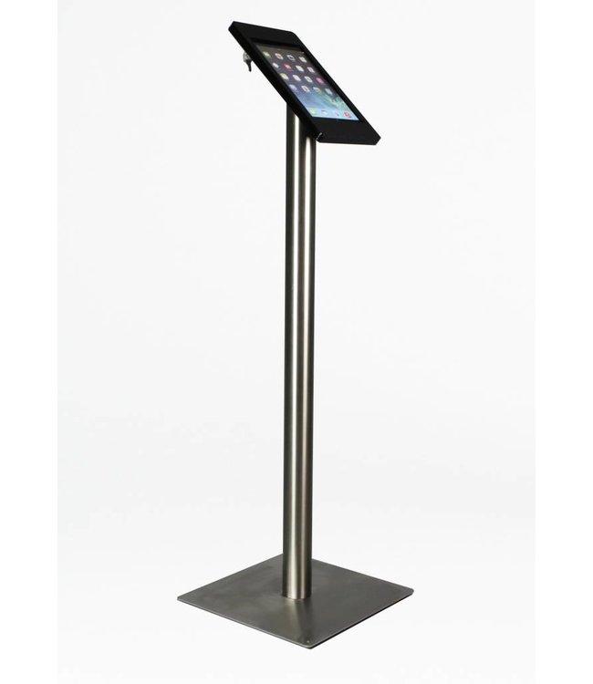Bravour iPad Bodenständer für iPad 2/3/4, Fino, Schwarz/Edelstahl