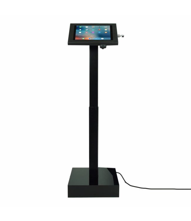Bravour Electronic height adjustable tablet display with universal Securo casing for all tablets between 12-13""