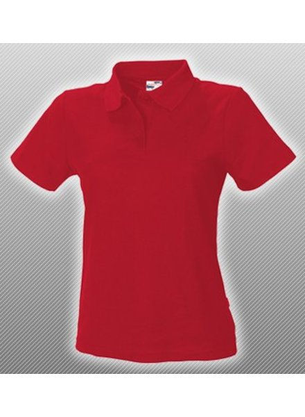 Polo Shirt Dames Rood