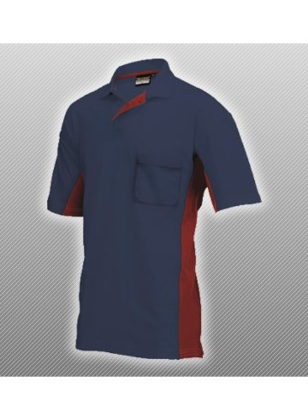 Tricorp Polo donker blauw / rood
