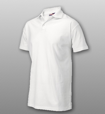 Polo Shirt Embroidered White