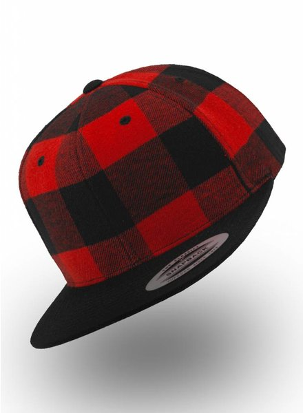 Yupoong Snapback Checkered Red Black