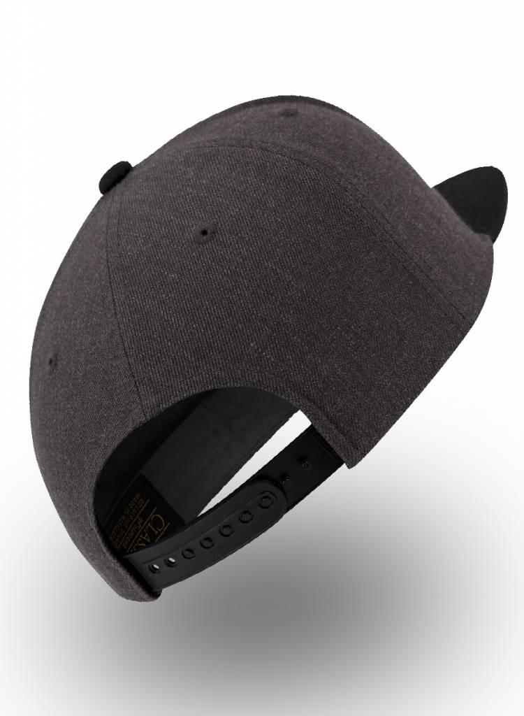 Yupoong Steenkool grijs  - Zwart Snapback