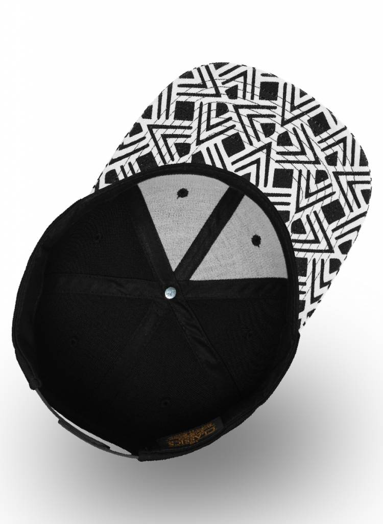 Yupoong Flexfit Snapback Black Geometric Visor