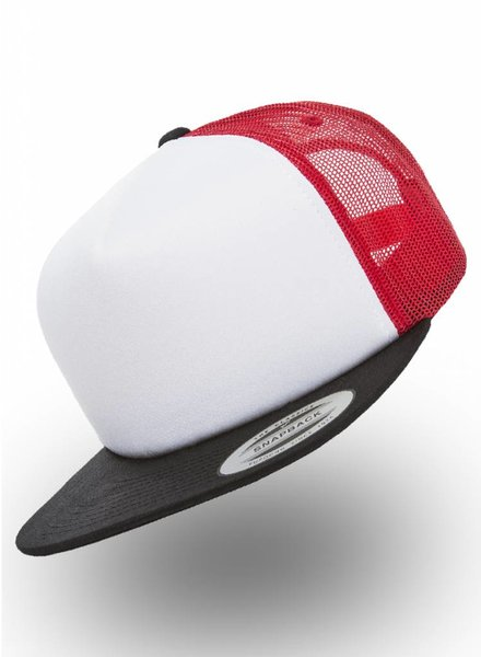 Yupoong Foam Truckers Cap Red White Black