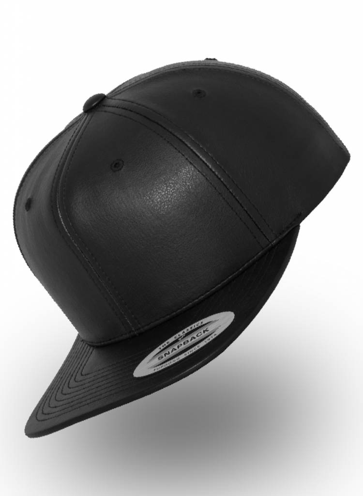 Flexfit by Yupoong Flexfit Snapback Full Black Leather