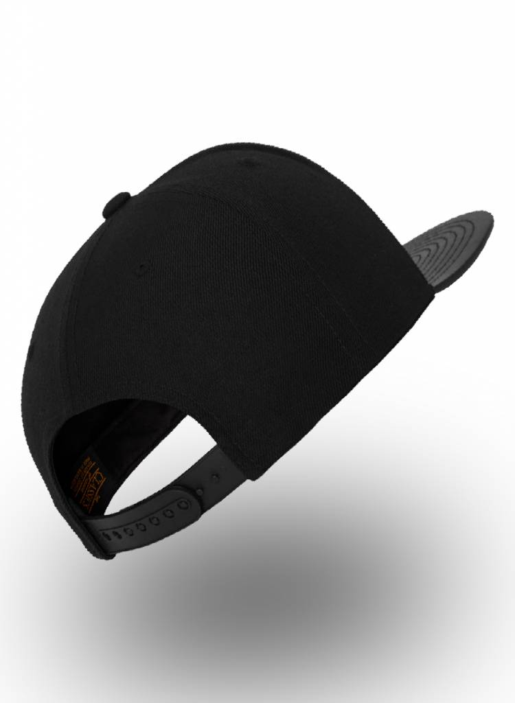 Yupoong Flexfit Snapback Black Leather Black