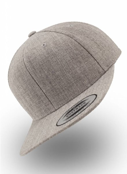 Yupoong Kids Snapback Heather Grey