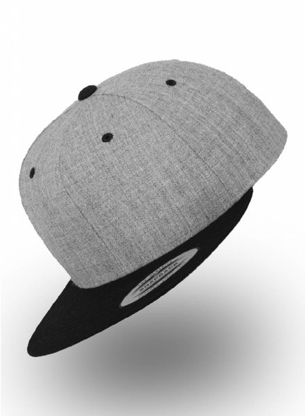 Yupoong Snapback 2-Tone Heather Black
