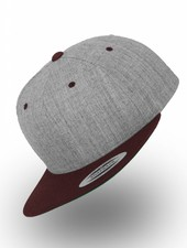 Yupoong Flexfit Snapback Heather Gray / Maroon