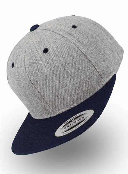 Flexfit by Yupoong Snapback Heather Grey - Navy