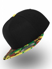 Yupoong Snapback Black Camo Rasta