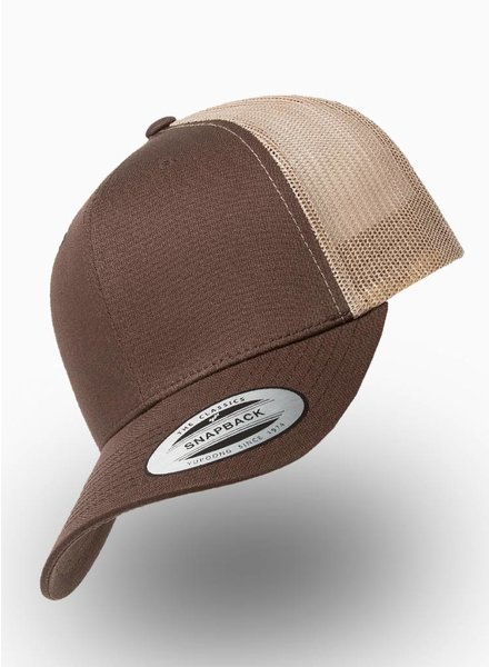 Flexfit by Yupoong Retro Truckers Cap Brown Khaki