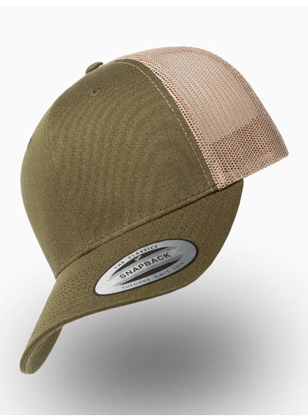 Flexfit by Yupoong Retro Truckers Cap Mossgreen Khaki