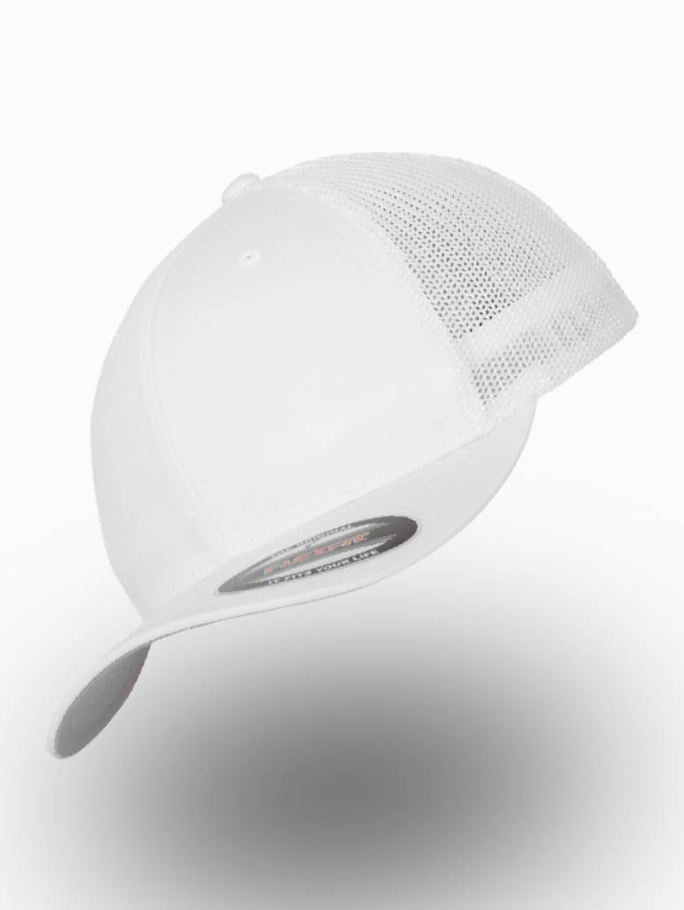 Yupoong Flexfit Retro Truckers Cap White