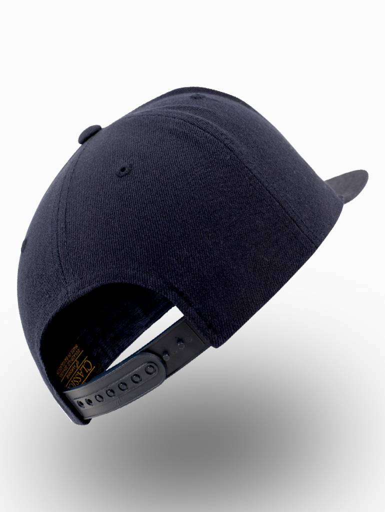 Yupoong Snapback Volledig donker blauw