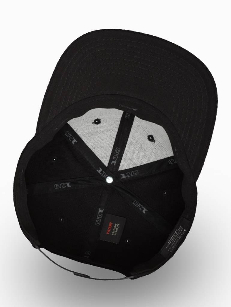 Yupoong Flexfit Snapback 110F Zwart
