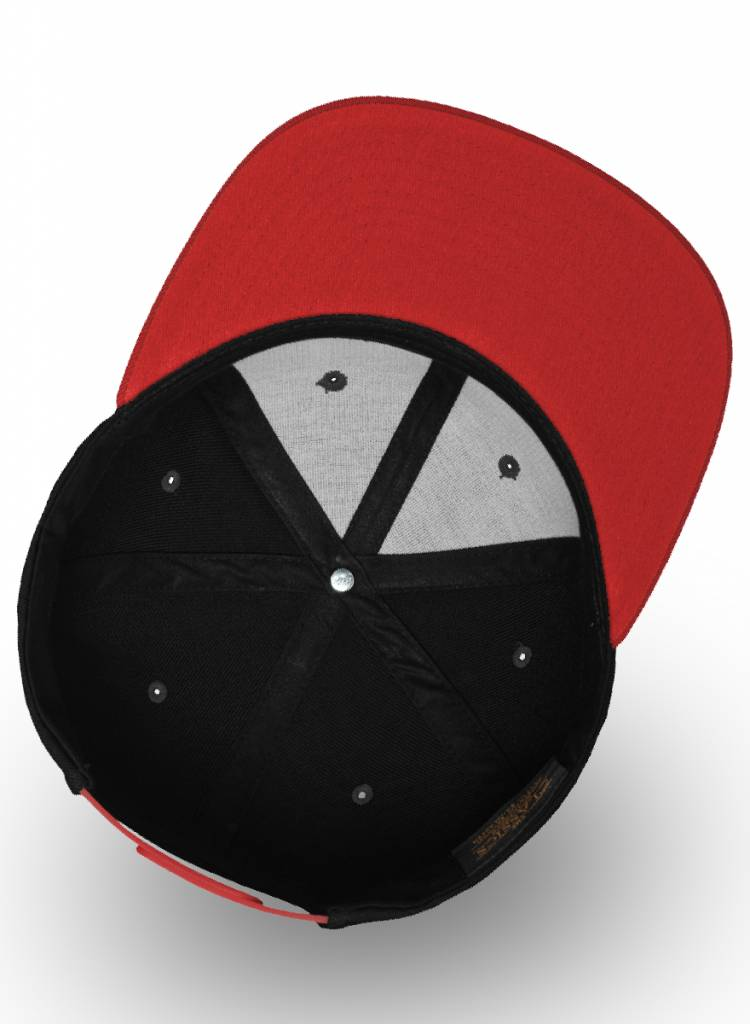 Yupoong Kids Snapback Red Black