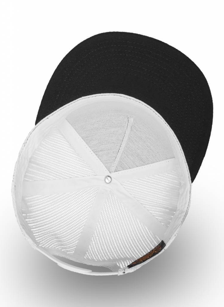 Flexfit by Yupoong Truckers Cap Black White