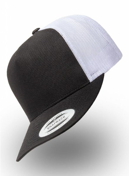 Yupoong Truckers Cap Black White