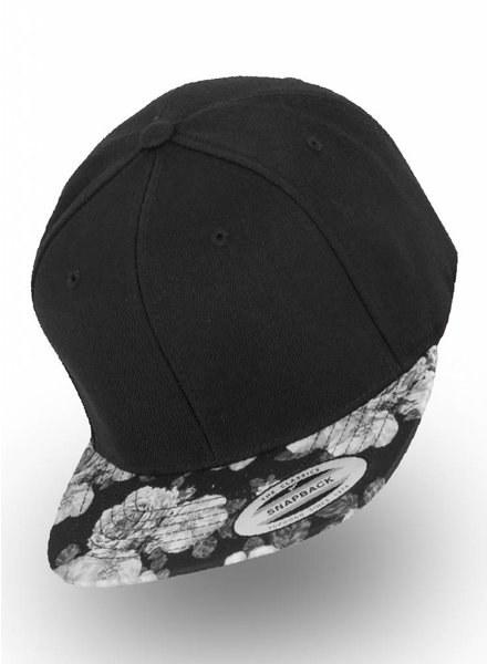Yupoong Flexfit Black Rose Snapback