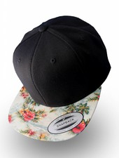 Yupoong Flexfit Black Floral Mint