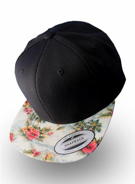 Yupoong Flexfit Black Floral Mint