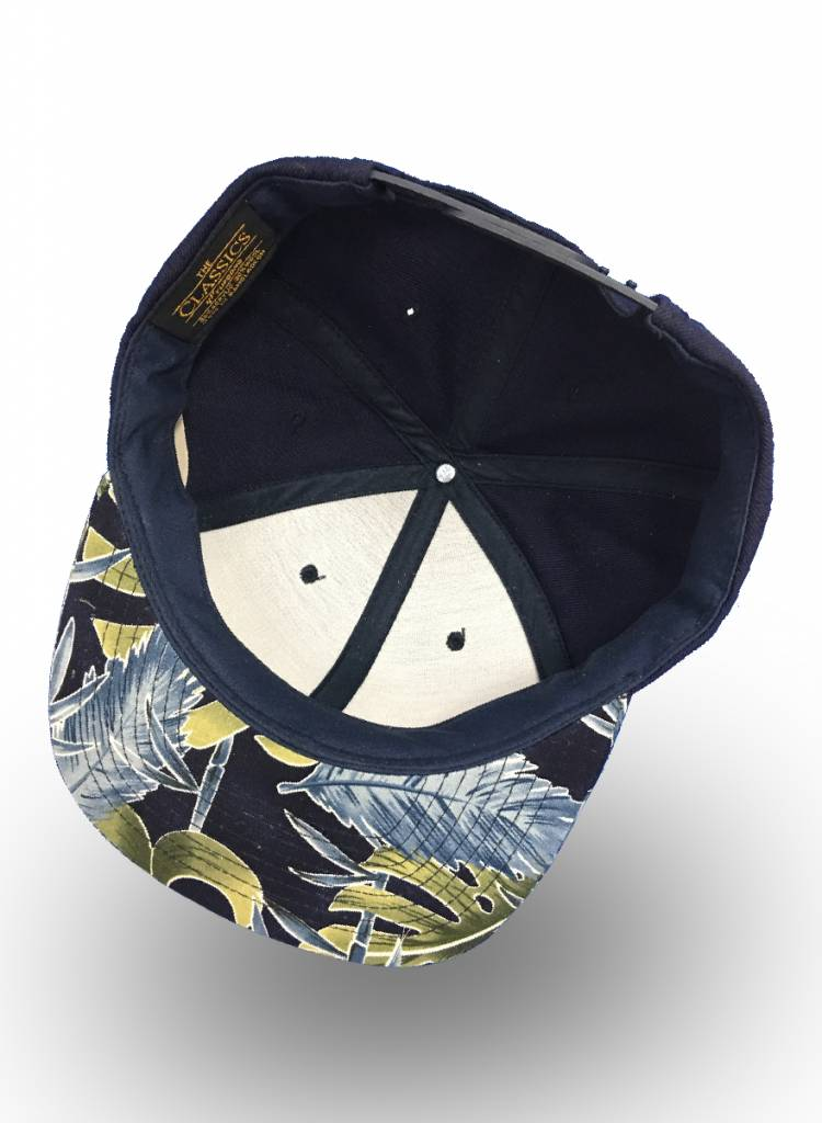Yupoong Snapback Navy Flowers